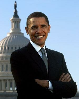 Довольный Обама