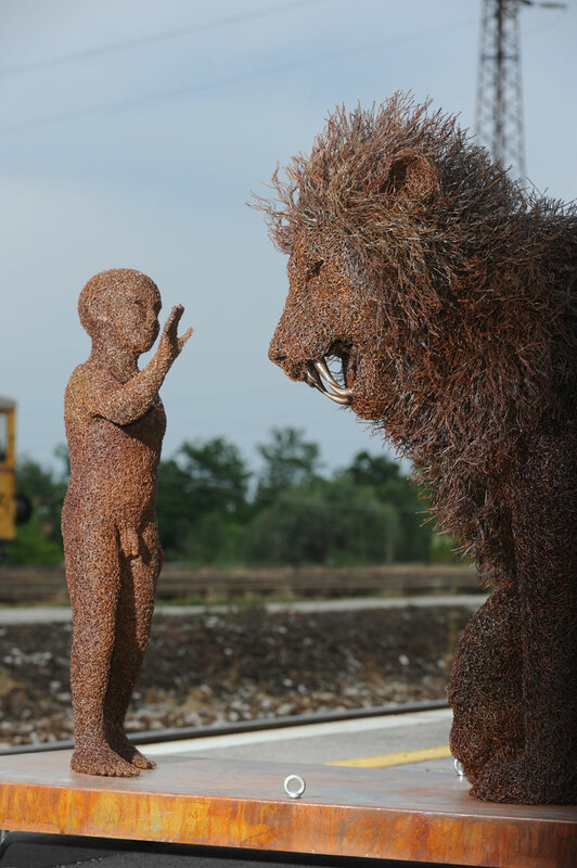 国外铁丝雕塑   - 艺术 - ys
