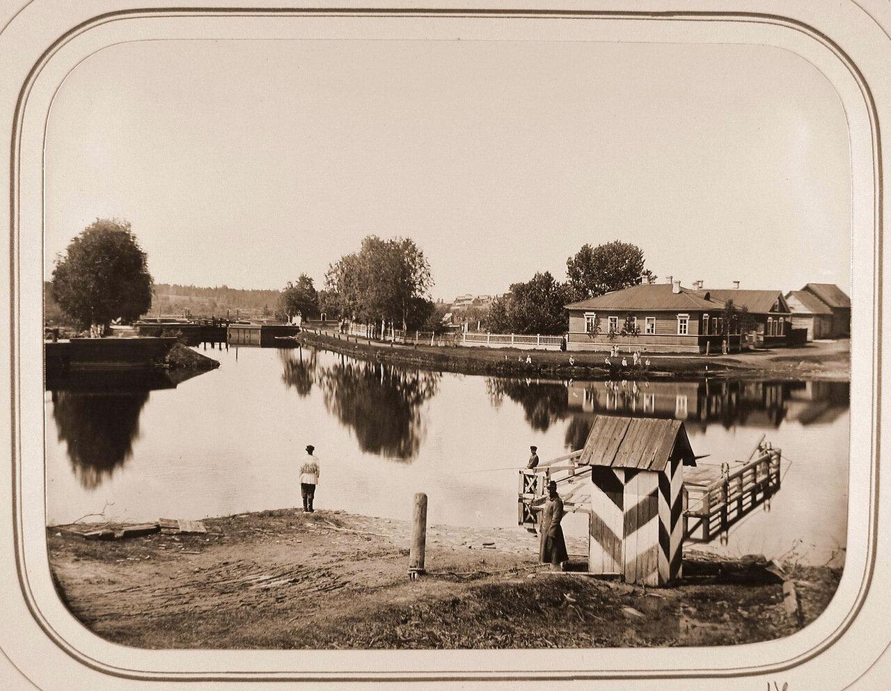 Вид на верхний Петербургский шлюз; справа на втором плане-дом начальника дистанции