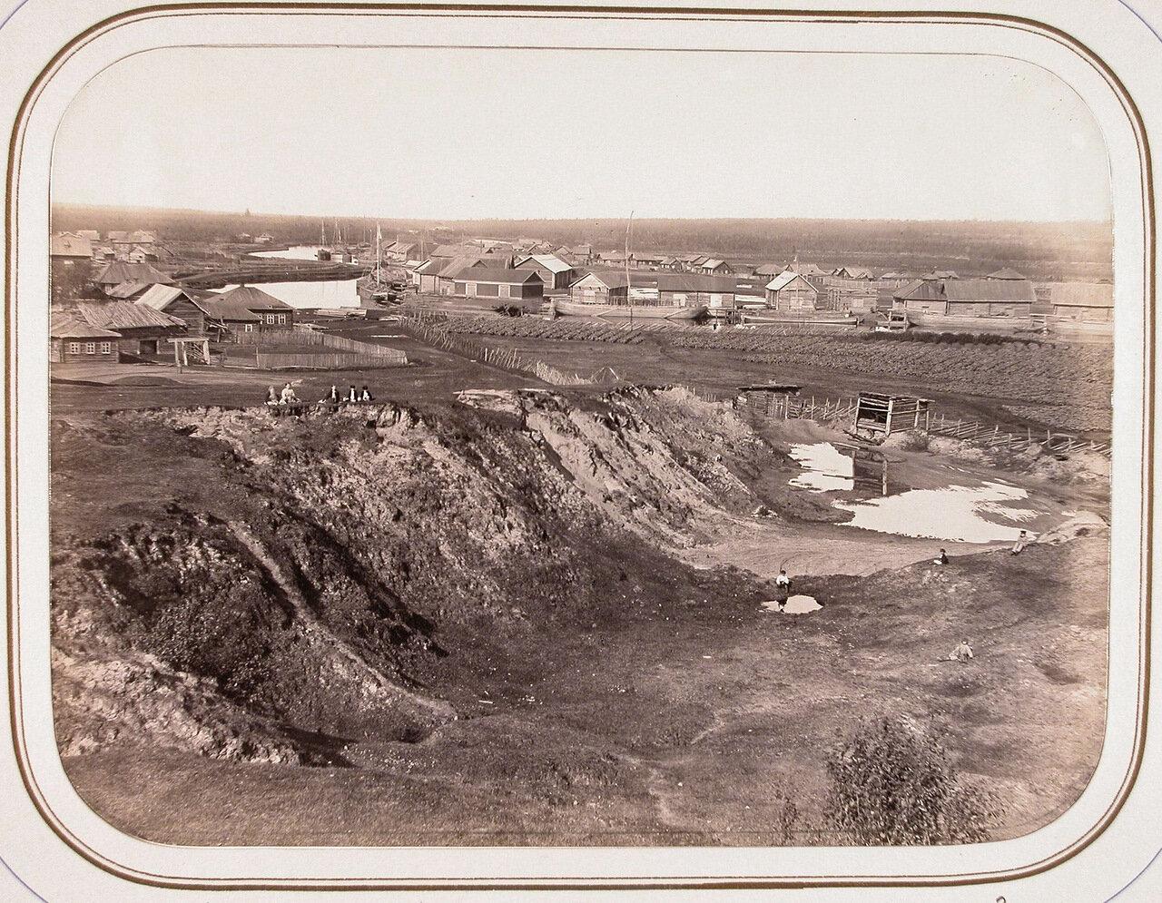Вид вытегорской пристани, складов и амбаров