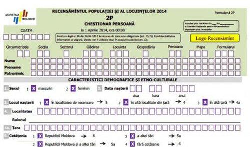 Сегодня в Молдове стартовала всеобщая перепись населения