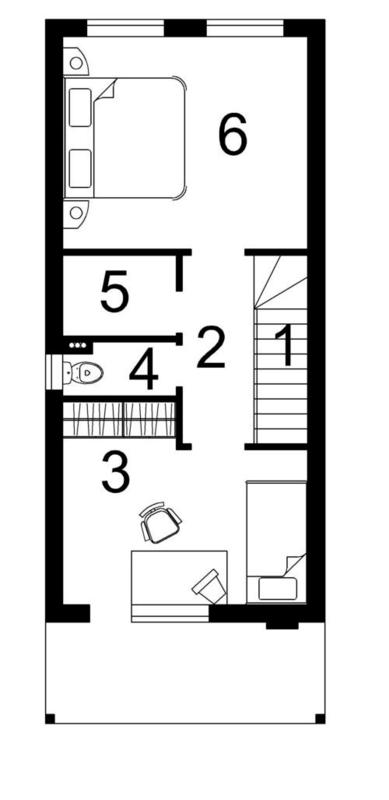 Проект дома. План второго этажа.
