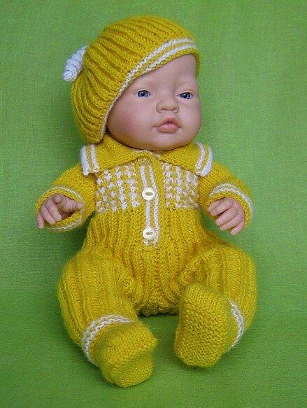 Вязаная одежда для кукол и