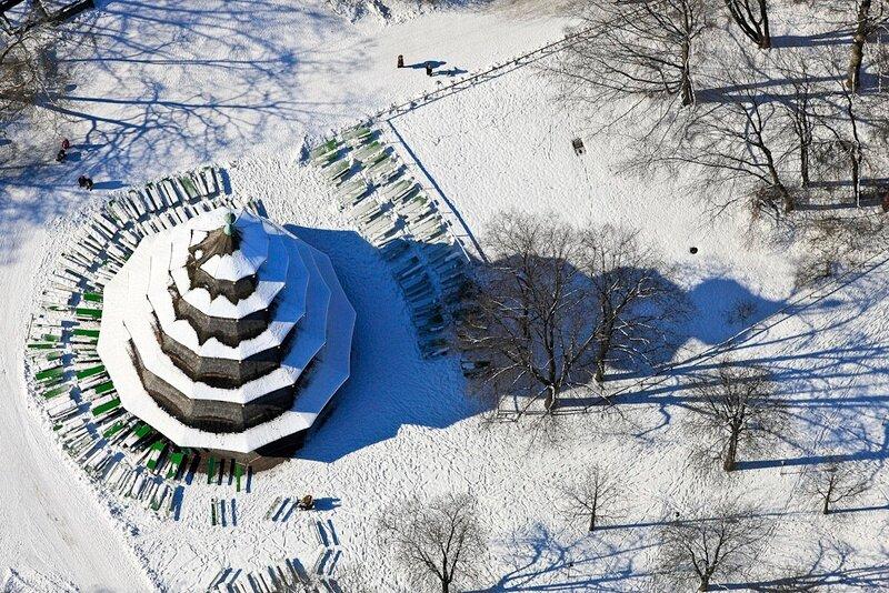 Chinesischer Turm im Winter