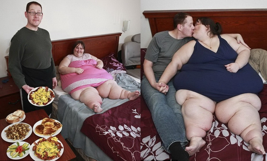 Как Толстая Женщина Бьет Мужчину