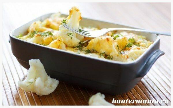 Запеченная цветная капуста с сыром (рецепт)