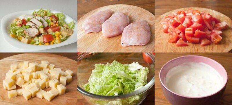 Вкусный и быстрый рецепт салата с индейкой