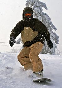 Начинающий сноубордист