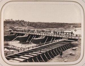 Вид на верхнюю плотину заводов Д.М.Полежаева,построенную по проекту и под наблюдением Н.С.Лебедева.