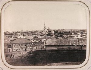 Вид на город с вала древнего укрепления. Белозерск