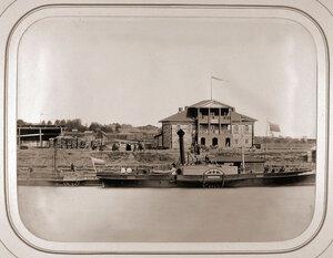 Вид на пристань,где в 1863 г. останавливался пароходСмелый с покойным наследником цесаревичем Николаем Александровичем. Череповец