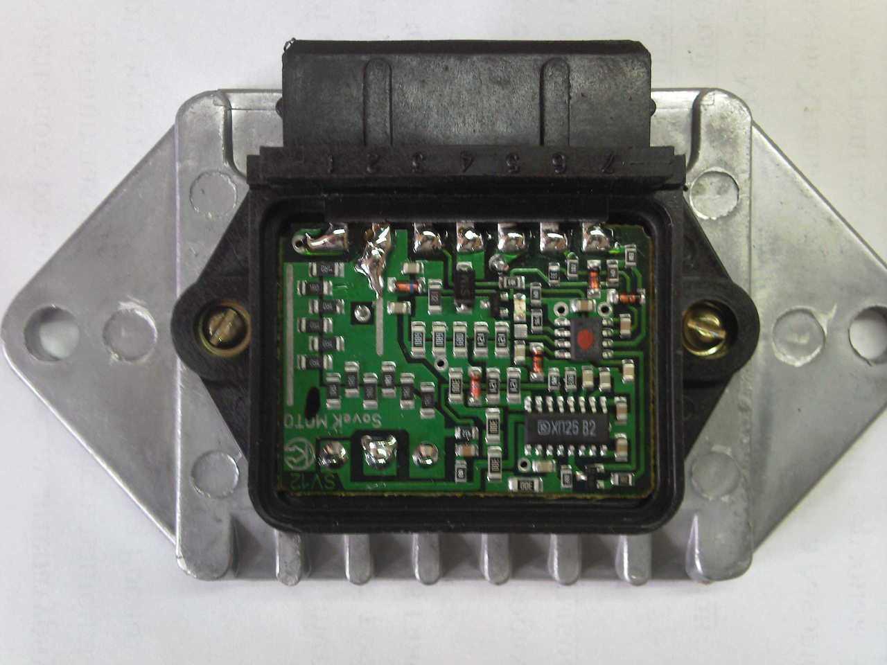 электрическая схема подключения модуля зажигания (cdi)