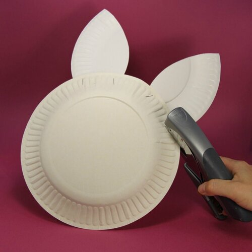 Пасхальная корзинка из одноразовой тарелки