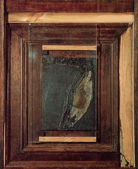 Десятая осень. 1987. Борис Смертин. Дерево, рельеф, масло. 75.5х59.5 см.