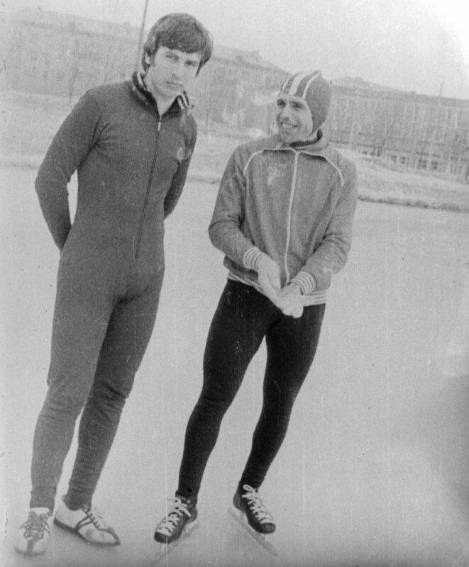 4.03.1978г. Гирчев В и Шварцман Ю. после эстафеты на КМС