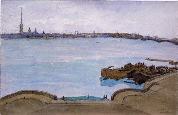 Анна Петровна Остроумова-Лебедева (1871-1955) Петроград, 1919