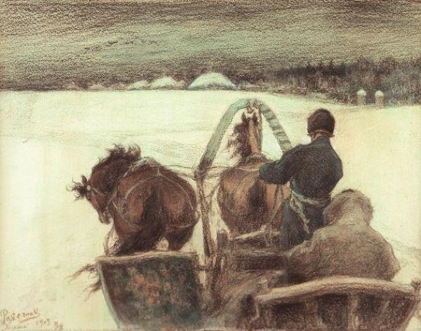 ЛЕОНИД ПАСТЕРНАК. Дорога в Ясную Поляну. 1903.