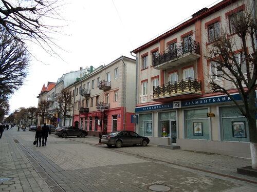 Украина. Луцк. Одна из центральных улиц города