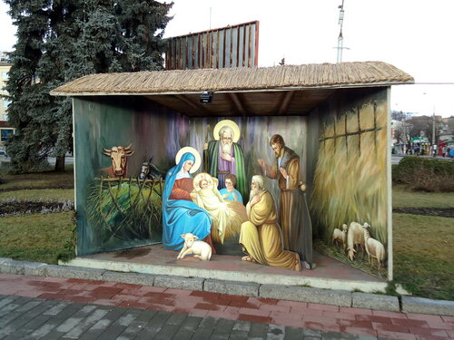 Украина. Луцк. Рождественское панно
