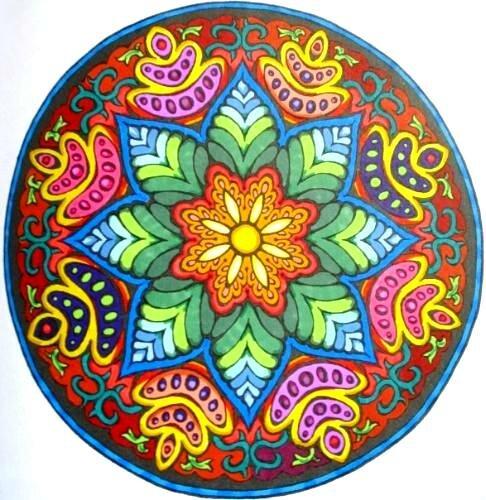 Раскраска с мандалами цветные