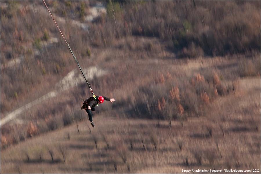 Прыжок в бездну. Роупджампинг со 120-метровой скалы в Качи-Кальоне