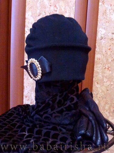 шапка из флиса черная