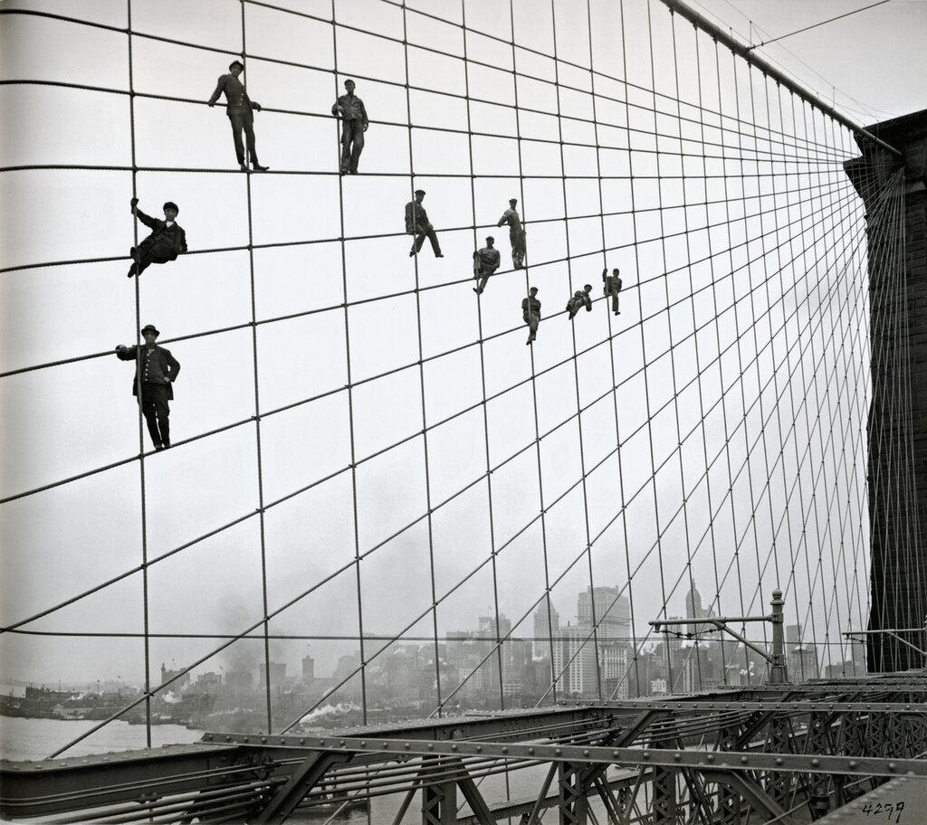 Brooklyn Bridge Workers 1914