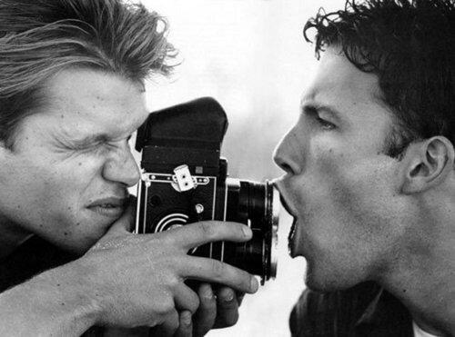 Matt Damon and Ben Affleck and a MF camera