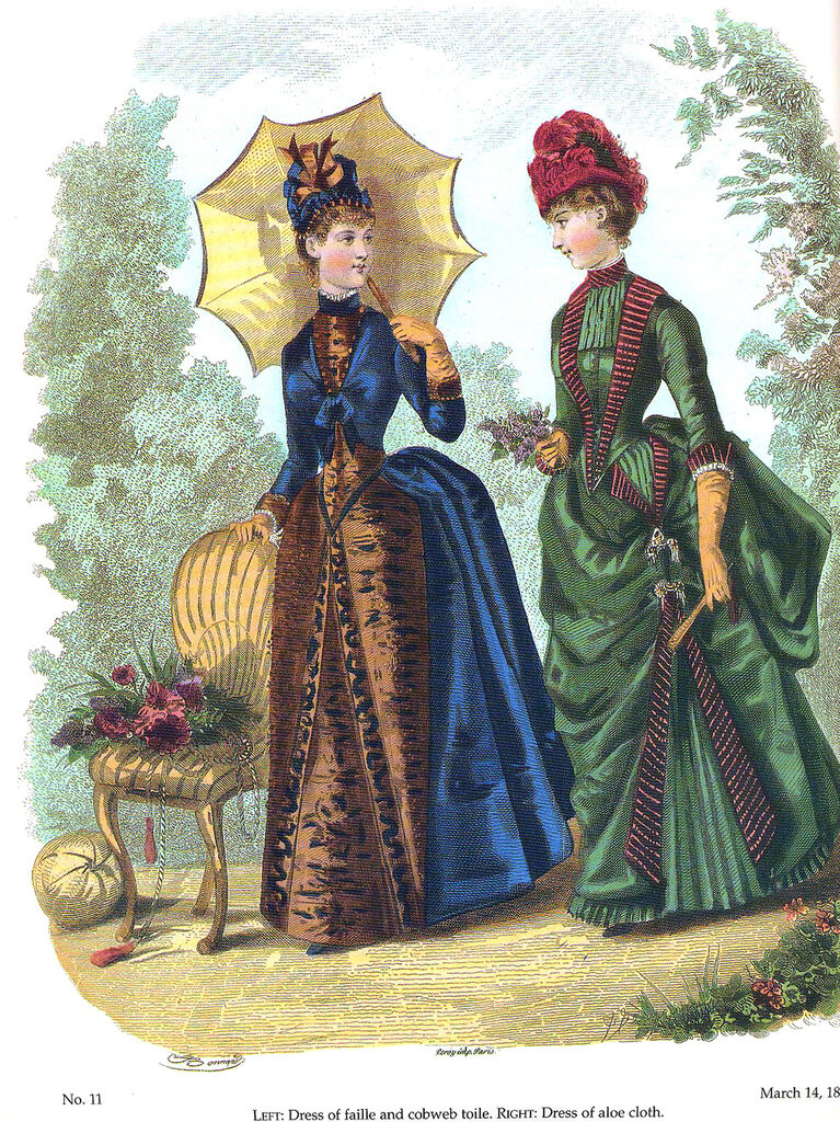 Tereena Clarke - Victorian Fashions.  Буклет для вышивки крестом.