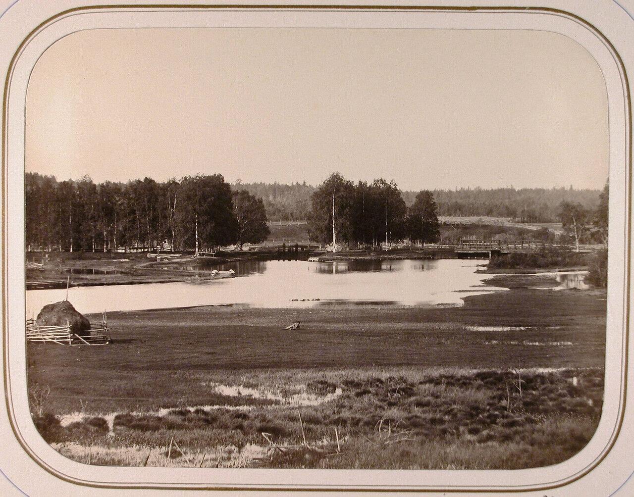 Вид на Орловскую плотину и шлюз