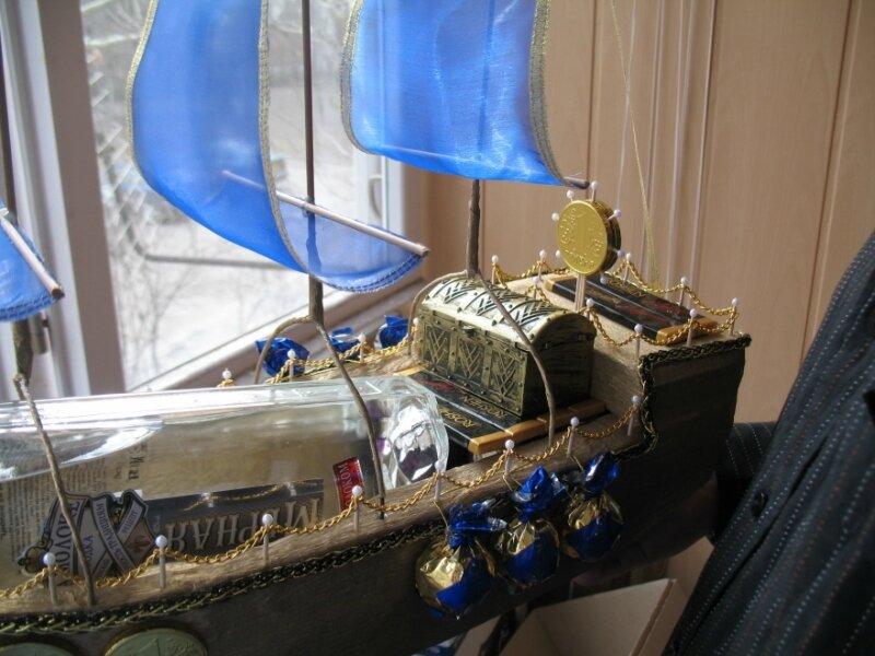 Корабль под бутылку своими руками 43