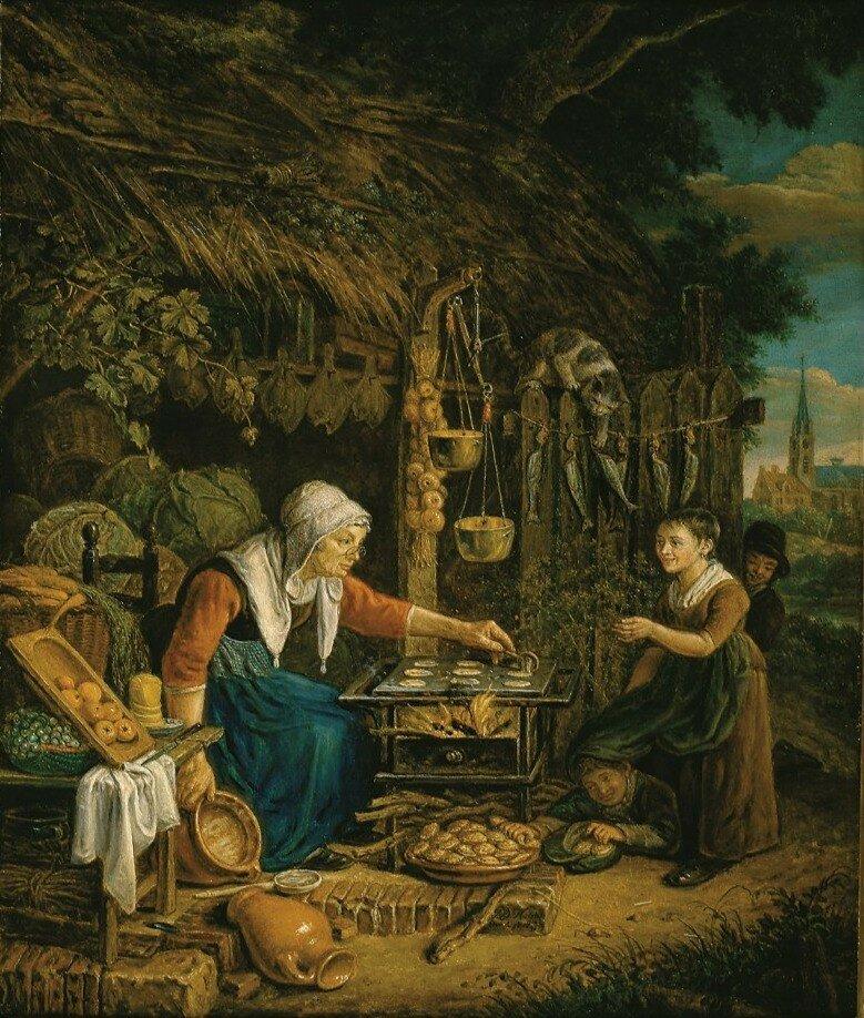 Horstok, Johannes Petrus van - Обман, 1819, 48 cm x 39,5 cm, Дерево, масло.jpg