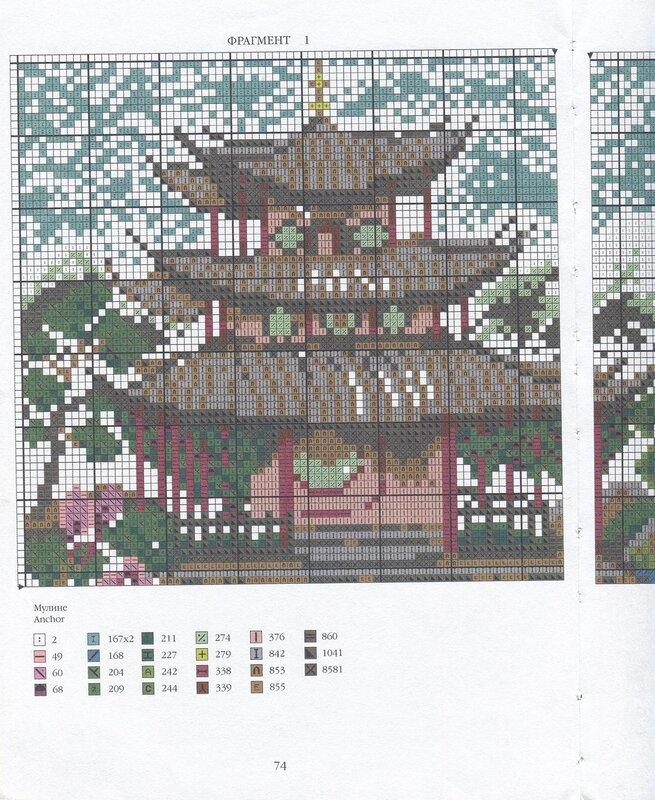 Схемы вышивки крестом схемы китайские мотивы 99