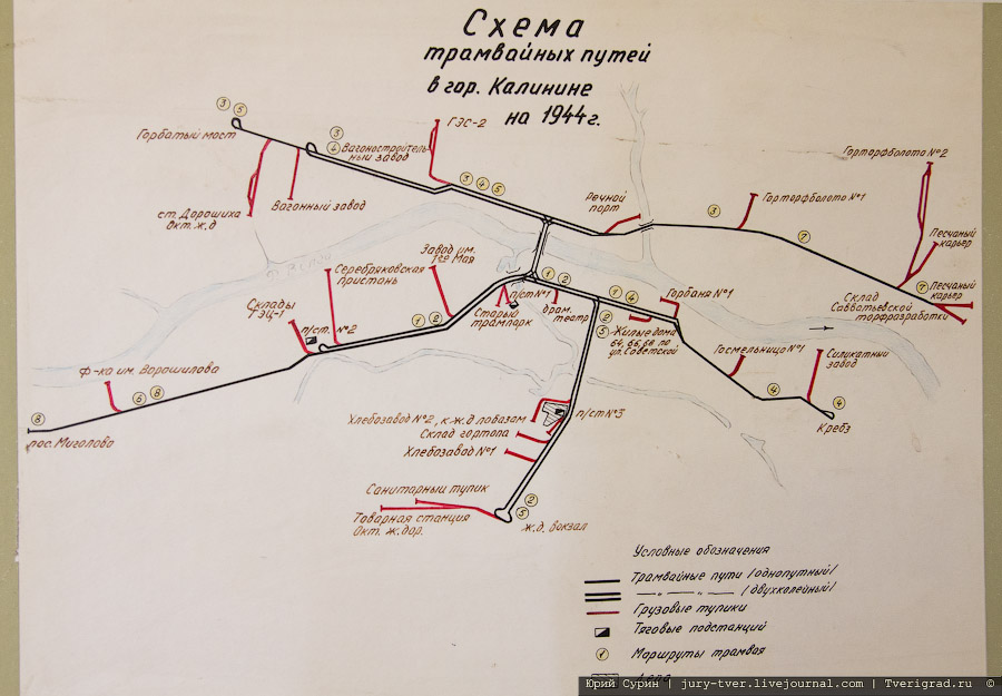 транспорта города Твери