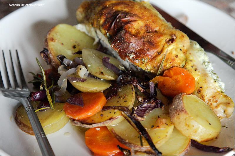 просто ясно куриная грудка с овощами в духовке этом