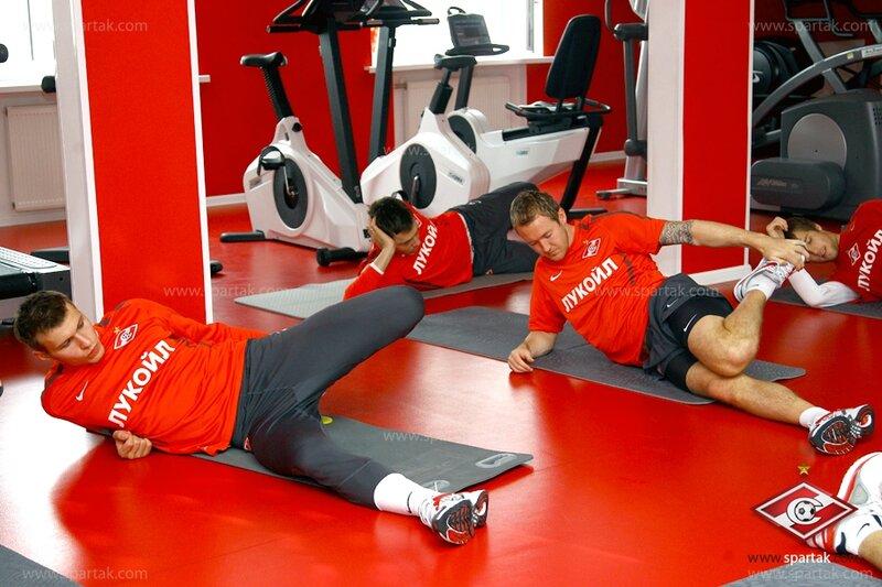 Тренировка «Спартака» в тренажерном зале (Фото)
