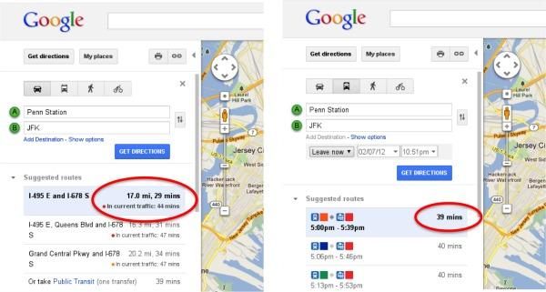 Google maps прошлой версии сразу показывалось сколько трафика употребляется