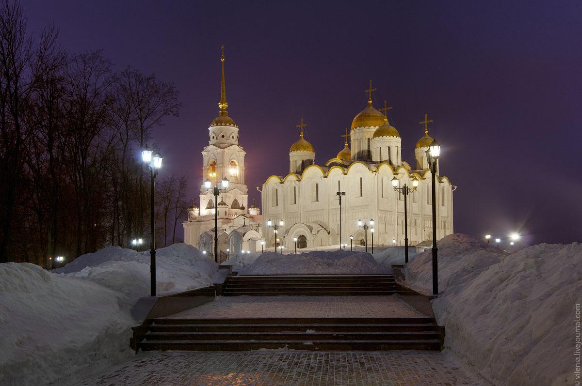 город владимир ночью фото адресами фото