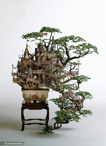Картинки по запросу миниатюрный пейзаж на подносе в японии