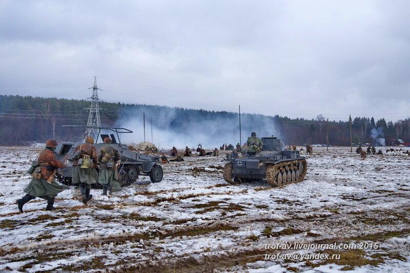 Реконструкция битвы за Москву и контрнаступления РККА в декабре 1941 г., Кубинка