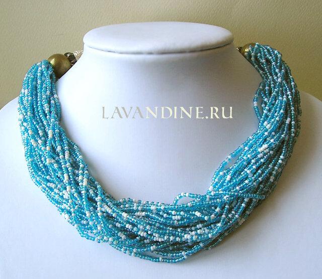 + Винтажное ожерелье из бисера Волны.