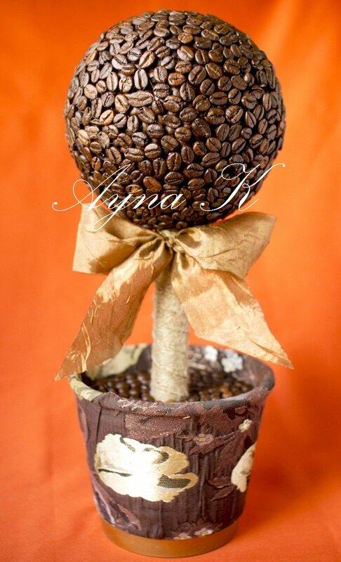 Как сделать кофейное дерево своим руками