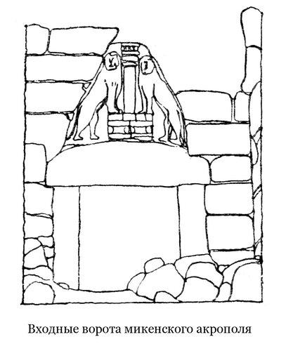 Львиные ворота Микенского акрополя