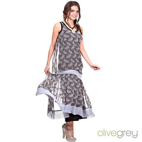 Платье двойное из шифона