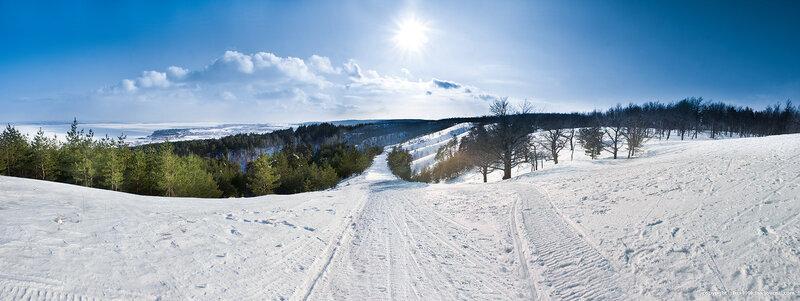Хвалынск, горнолыжный курорт, панорама