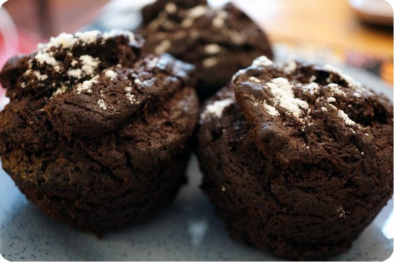 Обычный шоколадный кекс