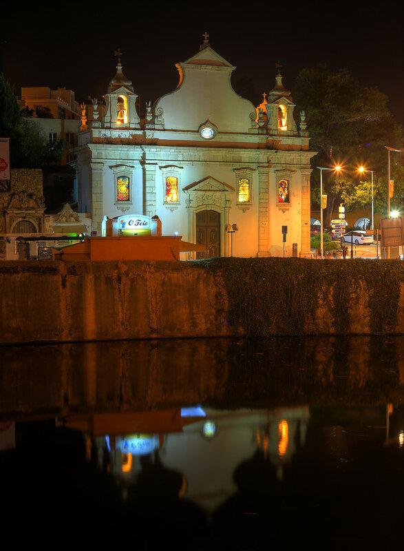 Night Leiria, Portugal. HDR photo