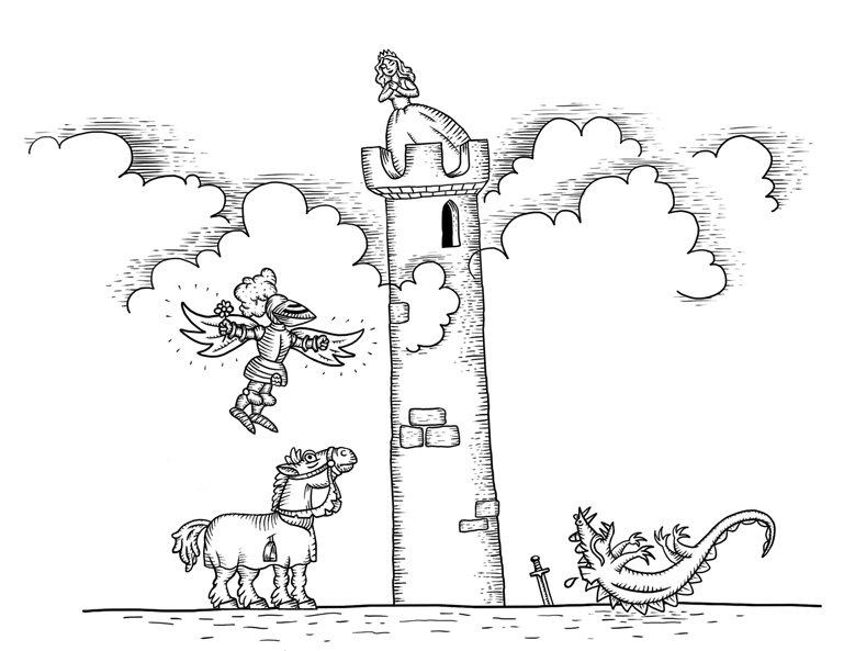 графика средневековая гравюра
