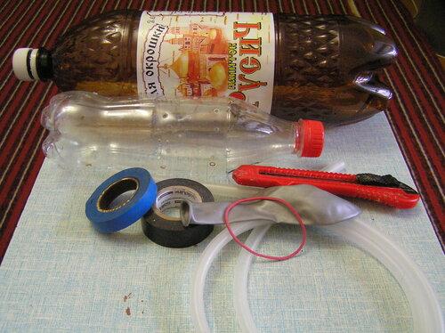 как изготовить лодку из бутылок