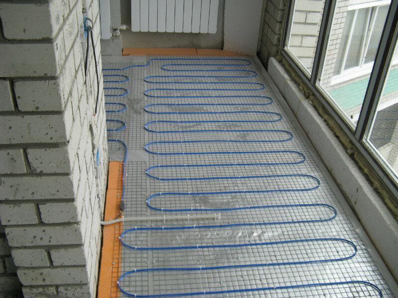 Теплый пол на утепленном балконе.